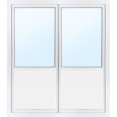 Pardörr med fönster 3-glas - Utåtgående - PVC - U-värde 0,96