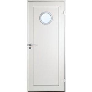 Innerdörr Öland - 1-spegel - Runt glas Aluminiumring - Massiv