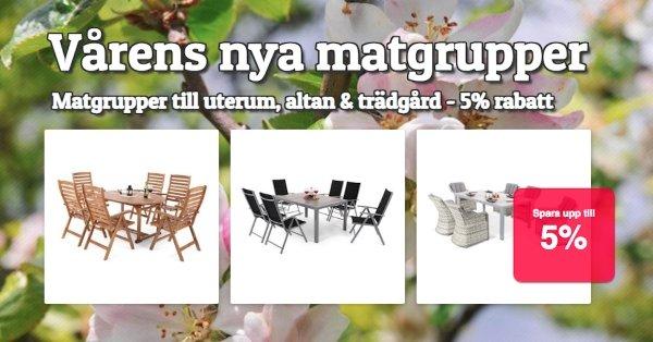 Vårens utematgrupper 5% rabatt