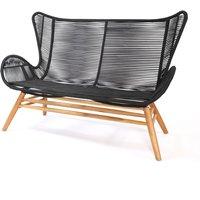 Tallberga soffa – akacia/svart rep