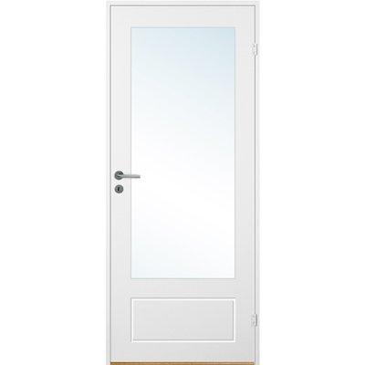 Innerdörr Bornholm - Kompakt dörrblad med spårfräst dekor & glasparti A15