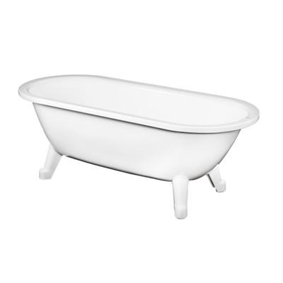 Gustavsberg 6316 frontlöst badkar med fötter, Perfect White