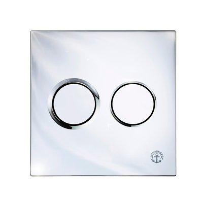 Gustavsberg Väggtrycke Triomont XS pneumatisk duo blank krom