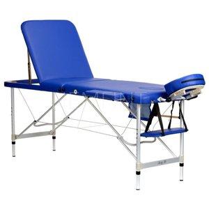 Massagebänk med metallben - 3 zoner - Enfärgad