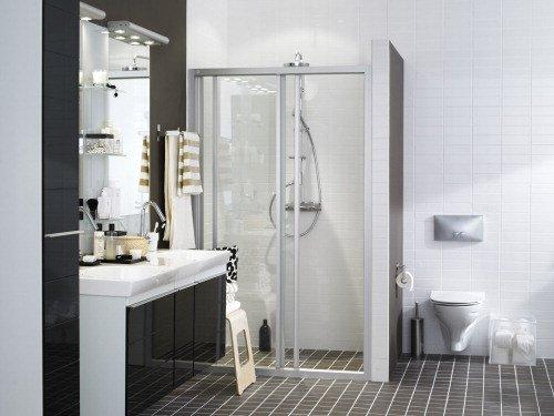 Ifö Solid SVS, rak duschvägg - 5295 kr - Hemfint.se : duschdörrar rak vägg : Inredning